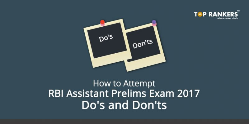 How to Attempt RBI Assistant Exam
