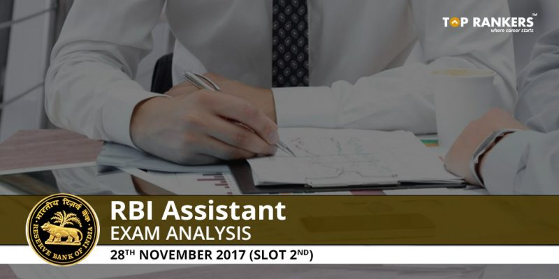 RBI Assistant Prelims Exam Analysis 28th November 2017 Shift 2