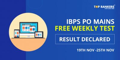 IBPS PO Mains Free Weekly Test Result Declared – Check Here