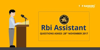 RBI Assistant Prelims Questions Asked 28th November 2017