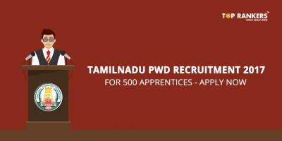 Tamilnadu Public Works Department Recruitment 2017 – 500 Apprentices