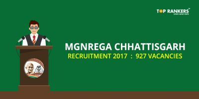 MGNREGA Chhattisgarh Recruitment 2017 for 927 Vacancies