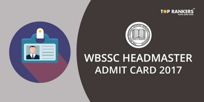 WBSSC Headmaster Admit Card