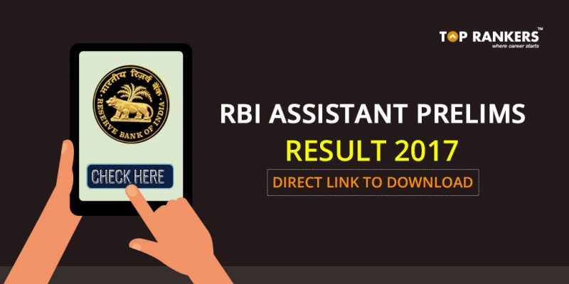 RBI Assistant Result for Prelims 2017