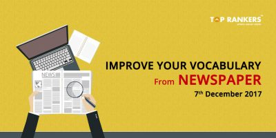 Improve Your Vocabulary From Newspaper 7th December 2017 PDF