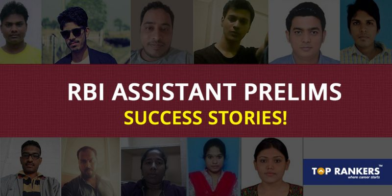 RBI Assistant Prelims Success Stories