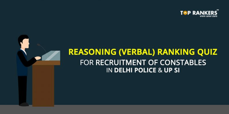 Reasoning (Verbal) Ranking Quiz