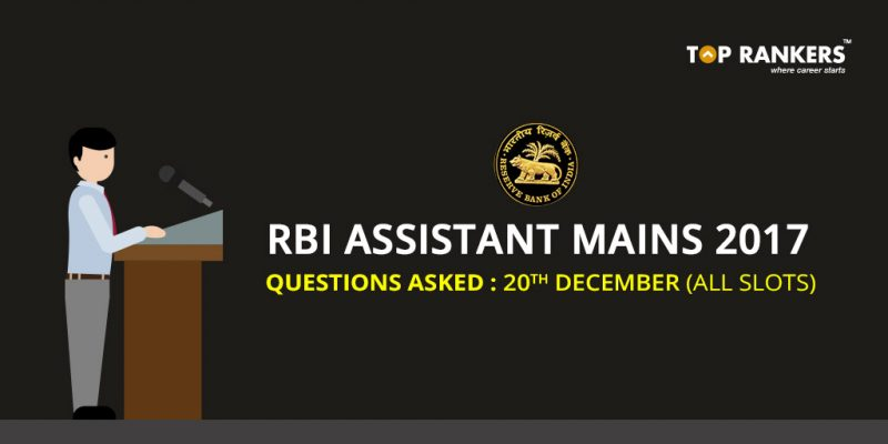RBI Assistant Questions Asked