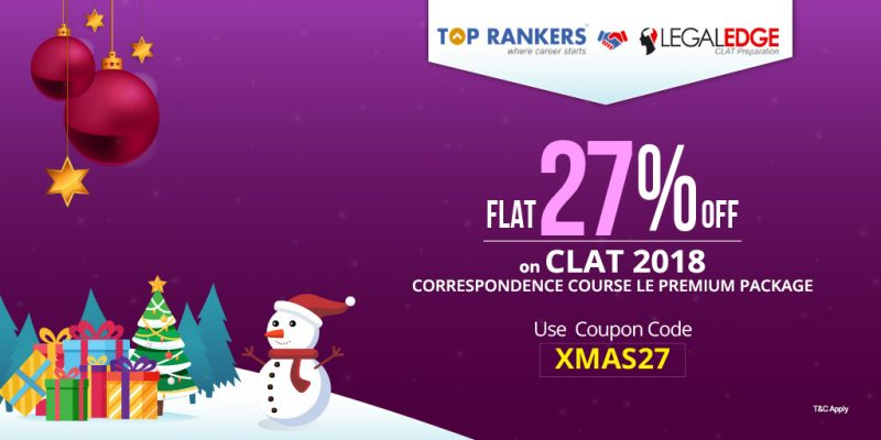 FLAT 27% Off on CLAT 2018 Mock Test-Series & Correspondence Courses