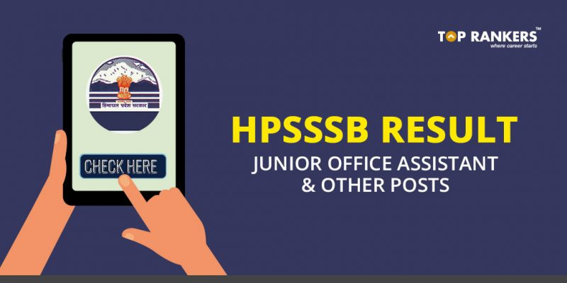 HPSSSB Result for Junior Office Assistant and Other Posts