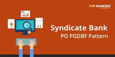Syndicate Bank PO PGDBF Exam Pattern