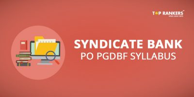 Syndicate Bank PO Syllabus- Download Complete  PGDBF  Syllabus PDF