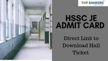 HSSC JE Admit Card 2019 Download Here