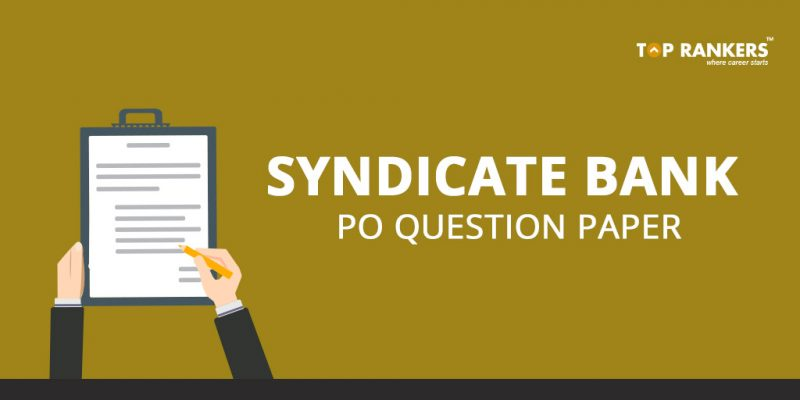Syndicate Bank PO Question Paper