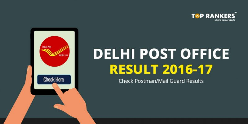 Delhi Post Office Result 2016-17