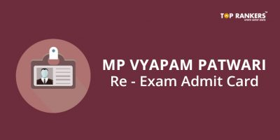 MP Vyapam Patwari Re Exam Admit Card