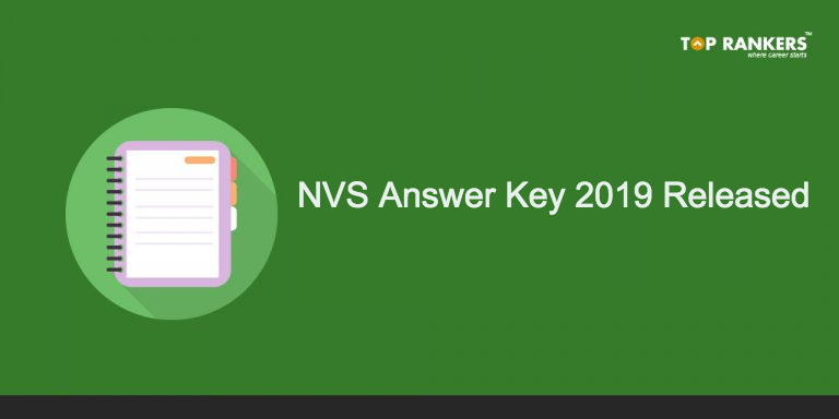 NVS Answer Key 2019 Released