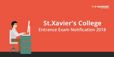 St.Xavier's College Exam Notification 2018