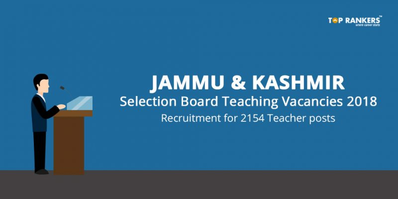 J&K Services Selection Board Teaching Vacancies
