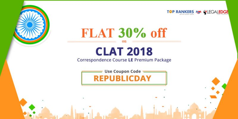 Republic Day Offer on LegalEdge CLAT Correspondence course & Mock Test