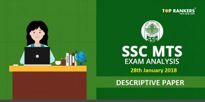 SSC MTS Tier 2 Exam Analysis Descriptive Paper 28 January 2018 : Questions Asked, Cut off Marks
