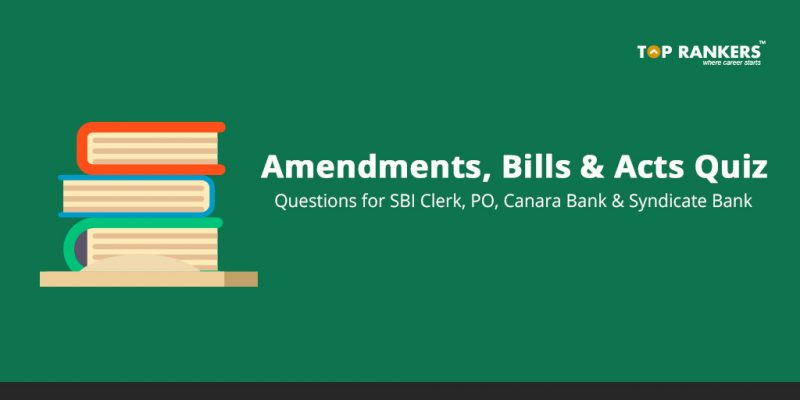 Amendments, Bills and Acts Quiz