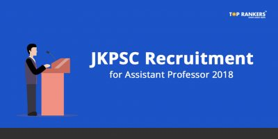 JKPSC Assistant Professor Recruitment 2018 – Apply Now
