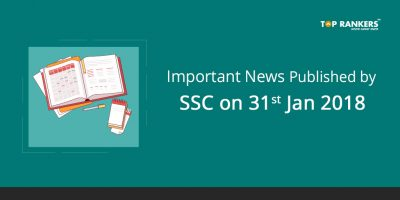 Important News Published by SSC on 31st Jan 2018