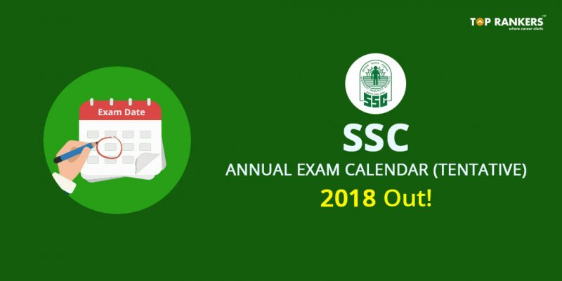 SSC Exam Calendar 2018 PDF Download (Official)