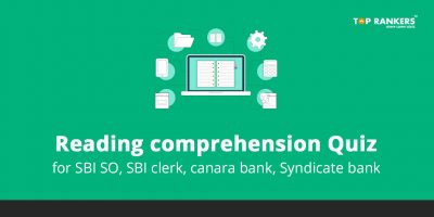Reading comprehension Quiz 2020 for Bank Exams