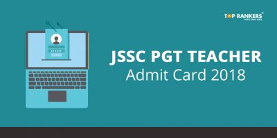 JSSC PGT Teacher Admit Card