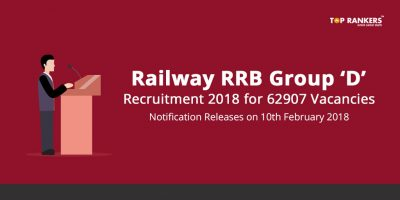 RRB Group D Recruitment 2018 – Railway RRC Notification Notice