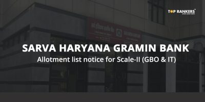 Sarva Haryana Gramin Bank Allotment list notice for Scale-II (GBO & IT)