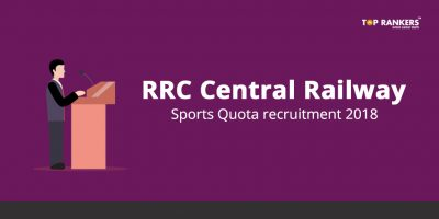 RRC Central Railway Sports Quota recruitment 2018 – 21 Sports Quota vacancies