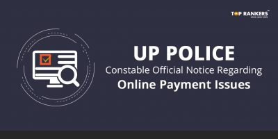 UP Police Constable Official Notice regarding Online Payment Issues