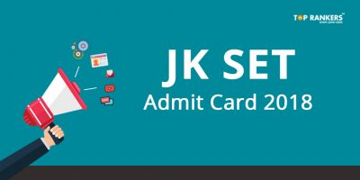 JK SET Admit Card 2018