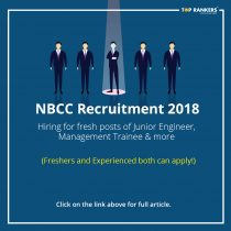 NBCC Recruitment 2018- Apply for Junior Engineer, Management Trainee & more