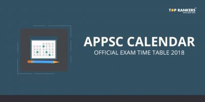 Official APPSC Calendar & Exam Time Table 2018