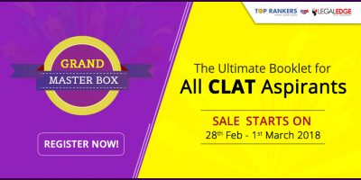 CLAT Grand Master Box Paper: The Ultimate Booklet for all Law Aspirants. Sale from 28th Feb