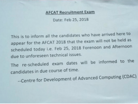 AFCAT Exam Cancelled