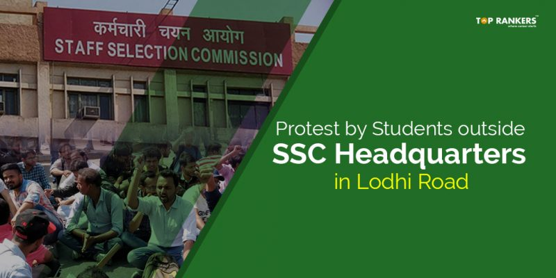 Peaceful Protest by Students outside SSC Headquarters
