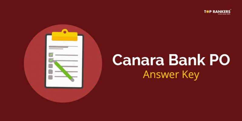 Canara Bank PO Answer Key