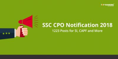 SSC CPO Notification 2018 – Download Official Recruitment Notice in PDF