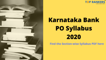 Karnataka Bank PO Syllabus 2020 – Check for Syllabus PDF Here