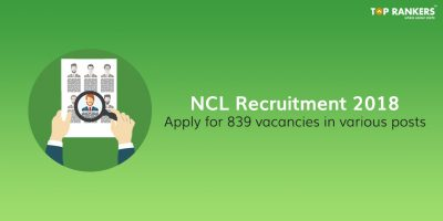 NCL Recruitment 2018 for Multiple Posts at National Coal Fields