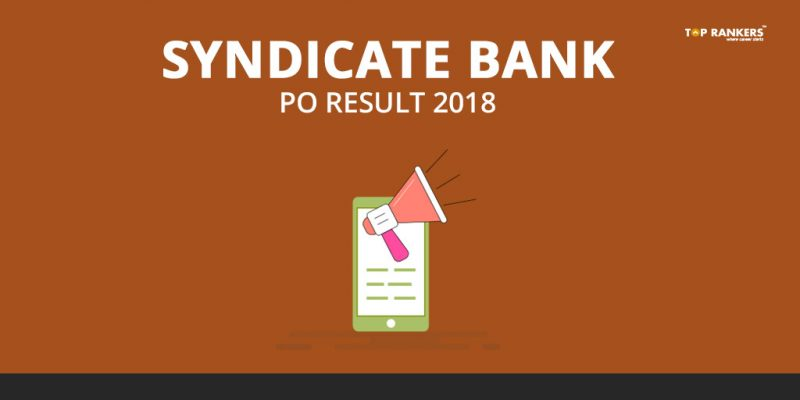 Syndicate Bank PO Result 2018