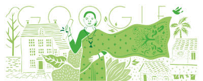 Google Doodle of Anandi Gopal Joshi – India's 1st Female Doctor