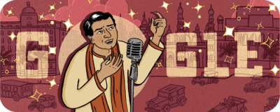 Why is K. L. Saigal on today's Google Doodle?