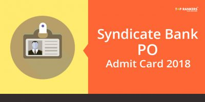 Syndicate Bank PO Interview Admit Card 2018