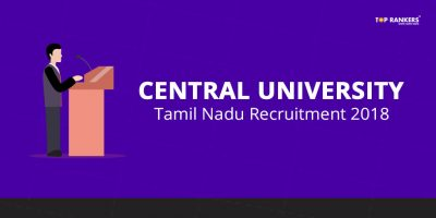 Central University Tamilnadu Recruitment 2018 – Apply for 65 Faculty Vacancies